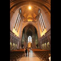 Liverpool, Anglican Cathedral (Hauptorgelanlage), Vierung und Hauptschiff