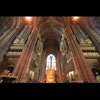 Liverpool, Anglican Cathedral (Hauptorgelanlage), Orgel und Vierung