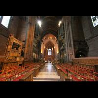 Liverpool, Anglican Cathedral (Hauptorgelanlage), Blick vom Chor in Richtung Westwand
