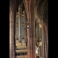 Liverpool, Anglican Cathedral (Hauptorgelanlage), Linker Orgelprospekt