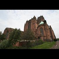 Liverpool, Anglican Cathedral (Hauptorgelanlage), Ansicht vom Chor aus