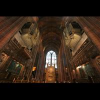 Liverpool, Anglican Cathedral (Hauptorgelanlage), Chor mit Altar und Orgel