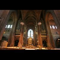 Liverpool, Anglican Cathedral (Hauptorgelanlage), Querhaus mit Orgel