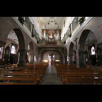 Villingen-Schwenningen, Münster Unserer lieben Frau Villingen, Innenraum / Hauptschiff in Richtung Orgel