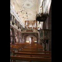 Villingen-Schwenningen, Münster Unserer lieben Frau Villingen, Kanzel und Orgel