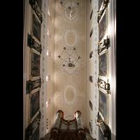 Villingen-Schwenningen, Münster Unserer lieben Frau Villingen, Blick ins Gewölbe mit Rückpositiv