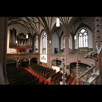 Frankfurt am Main, Dreikönigskirche, Blick von der Seitenempore zu Orgel