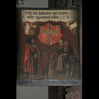 Frankfurt am Main, Dreikönigskirche, Tafel aus dem 16. Jh.