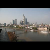 Frankfurt am Main, Dreikönigskirche, Blick vom Turm ins Bankenviertel