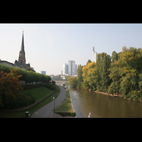 Frankfurt am Main, Dreikönigskirche, Main mit Dreikönigskirche
