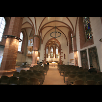 Frankfurt am Main, Alte Nikolaikirche (Positiv), Innenraum / Hauptschiff in Richtung Chor