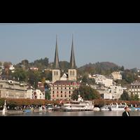 Luzern, Hofkirche St. Leodegar (Große Orgel mit Echowerk), Lage