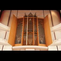 Luzern, KKL - Kultur- und Kongresszentrum, Orgelprospekt mit Chamaden auf dem Dach