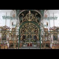 Sankt Gallen (St. Gallen), Kathedrale (Chororgel), Gitter vor dem Chorraum