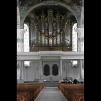 Sankt Gallen (St. Gallen), Kathedrale (Chororgel), Blick zur Hauptorgel