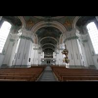 Sankt Gallen (St. Gallen), Kathedrale (Chororgel), Blick vom Choir zur großen Orgel