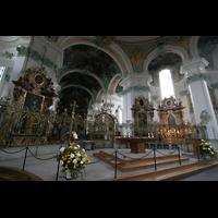 Sankt Gallen (St. Gallen), Kathedrale (Chororgel), Altar und Chorraum
