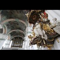Sankt Gallen (St. Gallen), Kathedrale (Chororgel), Kanzel und Orgel