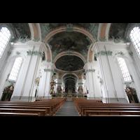 Sankt Gallen (St. Gallen), Kathedrale (Chororgel), Blick zum Chorraum
