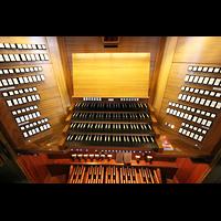 Sankt Gallen (St. Gallen), Kathedrale (Chororgel), Spieltisch der großen Orgel