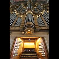 Sankt Gallen (St. Gallen), Kathedrale (Chororgel), Große Orgel mit Spieltisch