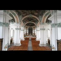 Sankt Gallen (St. Gallen), Kathedrale (Chororgel), Blick von der Orgelempore