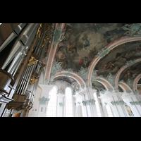 Sankt Gallen (St. Gallen), Kathedrale (Chororgel), Orgel und Deckengewölbe