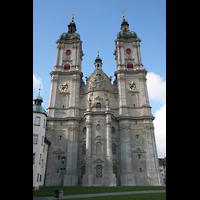 Sankt Gallen (St. Gallen), Kathedrale (Chororgel), Ostfassade mit Türmen