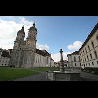 Sankt Gallen (St. Gallen), Kathedrale (Chororgel), Klosterplatz und Kathedrale