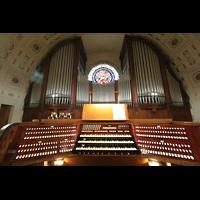 Sankt Gallen (St. Gallen) - Neudorf, St. Maria, Spieltisch mit Orgel