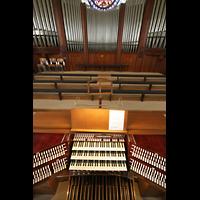 Sankt Gallen (St. Gallen) - Neudorf, St. Maria, Spieltisch mit Orgelprospekt