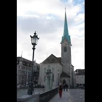 Zürich, Fraumünster, Fraumünster von der Rathausbrücke aus