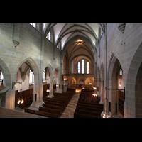 Zürich, Fraumünster, Blick von der Orgelempore