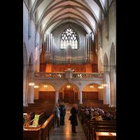Zürich, Fraumünster, Hauptschiff mit Orgel
