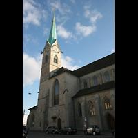 Zürich, Fraumünster, Seitenansicht mit Turm