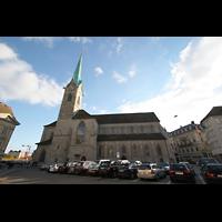 Zürich, Fraumünster, Seitenansicht