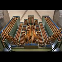 Zürich, Großmünster, Orgelprospekt mit Spanischen Trompeten