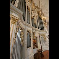 Sankt Urban (St. Urban), Klosterkirche, Orgel mit Spieltisch