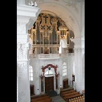 Sankt Urban (St. Urban), Klosterkirche, Orgel vom Seitenumgang aus