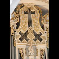 Sankt Urban (St. Urban), Klosterkirche, Pfeifen in Wappenform