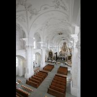 Sankt Urban (St. Urban), Klosterkirche, Blick von der Orgelempore in die Kirche