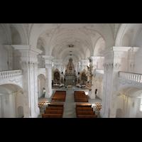 Sankt Urban (St. Urban), Klosterkirche, Innraum von der Orgelempore aus