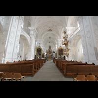 Sankt Urban (St. Urban), Klosterkirche, Innenraum / Hauptschiff in Richtung Chor