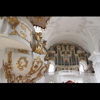 Sankt Urban (St. Urban), Klosterkirche, Kanzel und Orgel