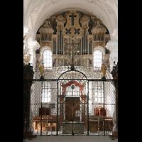 Sankt Urban (St. Urban), Klosterkirche, Orgel und Chorraumgitter