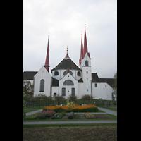 Muri, Klosterkirche (Chorpositiv), Klostergarten mit Kirche