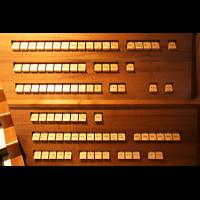Horgen, Reformierte Kirche, Registerwippen am Spieltisch