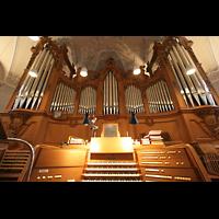 Horgen, Reformierte Kirche, Orgel mit Spieltisch