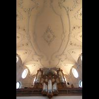 Horgen, Reformierte Kirche, Orgel mit Decken-Stuck