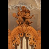 Horgen, Reformierte Kirche, Putten über dem Mittelturm